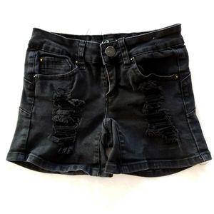 ❣movingSALE❣Thread Market- Destroyed Black Shorts